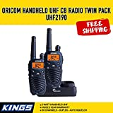 Oricom 2 Watt Handheld UHF CB Radio Twin Pack UHF2190 80 Channels