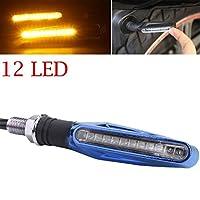 quaant LED車ライト、ホットSale 1個オートバイ12LEDターン信号インジケータBlinkersライトAmber Just for You ブルー Quaant