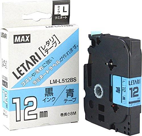 ビーポップミニ テープカセット 12mm幅 青に黒文字 LM-L512BS