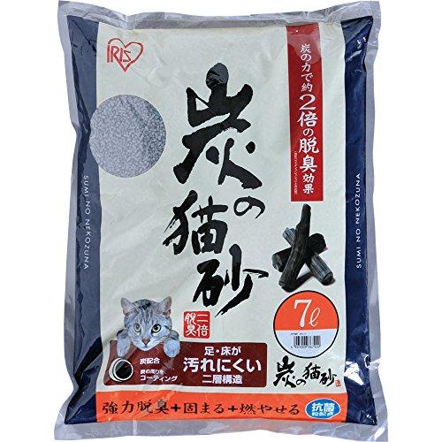 アイリスオーヤマ 炭の猫砂 SNS-70(523462) 1袋(7L)