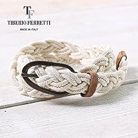 TIBERIO FERRETTI COTTON MESH BELT 9023 ティベリオフェレッティー コットン メッシュベルト(col.アイボリー)