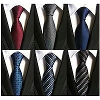 Adulove Men's Necktie Classic Silk Tie Woven Jacquard Neck Ties 6 PCS