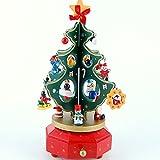 Doitsa クリスマスツリー ミニ 卓上 テーブル ツリー飾り 可愛い 木製 オーナメント プレゼント 21cm 緑