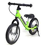 【組立済】【4色から選べる】 ブレーキ付 ペダルなし自転車 キッズバイク SPARKY (GREEN)