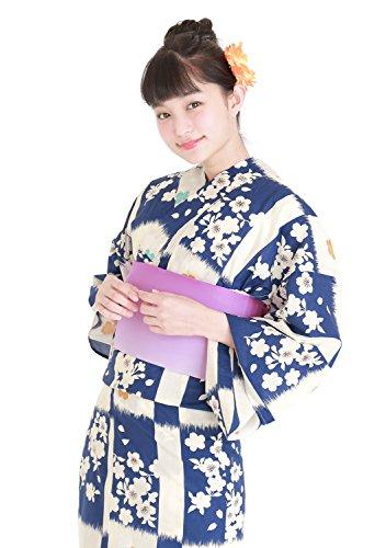 手袋浴衣3件套浴衣可以从20种[浴衣+频段+木屐]复古现代仿古浴衣一套女式焰火的夏季节日女人女人浴衣浴衣选择