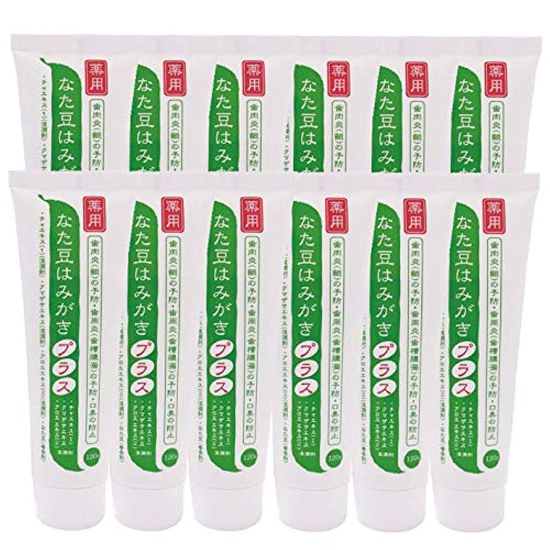 薄める行商人美徳薬用 なた豆はみがきプラス 120g(12本セット)