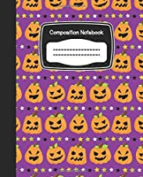 Composition Notebook: Halloween Pumpkin Ghost Witch Monster Candy Corn
