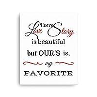 Every Love Storyキャンバス印刷 16×20 ホワイト PF5ac1748e5ee0bV2