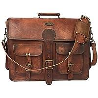 TUZECH Large Bold and Stylish Hunter Leather Bag Handcrafted Messenger Office Regular Bag Fits Laptop Upto