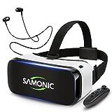 SAMONIC 3D VRゴーグル 「Bluetoothコントローラ、イヤホン、日本語説明書付属」 (ホワイト)
