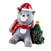 Flameer クリスマス 装飾 置物 ミニ 風景樹脂 盆栽 装飾品 歳暮ギフト かわいい 全18種 - ネコ