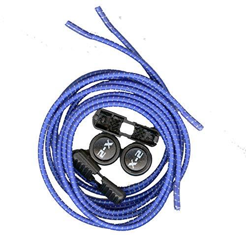 X-2シューレースシステム 結ばない ほどけない スリッポン 簡単に縛りを調整できる靴紐 ゴム製伸びる靴紐 ロックストッパー