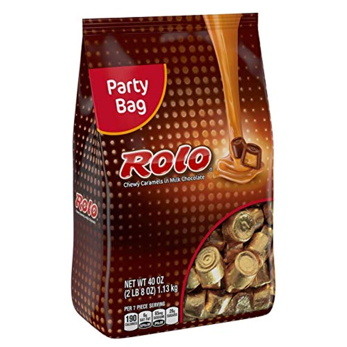 海上請求書定期的なRolo グルテンフリー チューイキャラメル ミルクチョコレート、ハロウィンキャンディ、個別包装キャンディ、40オンスバッグ
