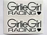2Girlie Girl Racing Die Cutデカール