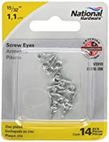 National Hardware V2010 Number 217-1/2 and 15/32-Inch Zinc Plated Screw Eye [並行輸入品]