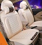 (ファーストクラス)FirstClass ノンスリップシート 四季用 エアバッグホールあり フルセット ファブリック フロント リア クッション 車シートカバー ベージュ 汎用 A4 A6 Q5 Q7 アベオ クルーズ 8pcs
