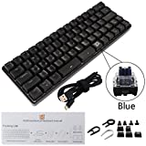 Minhuih 有線キーボード GK66ゲーミングキーボード メカニカルキーボード Gateron製光 GK66光軸メカニカルキーボード USB Type-C有線 耐水 静音設計 Windows/Mac OS対応 オフィス・ゲームに適用 RGB 1680万色 ブラック高級感