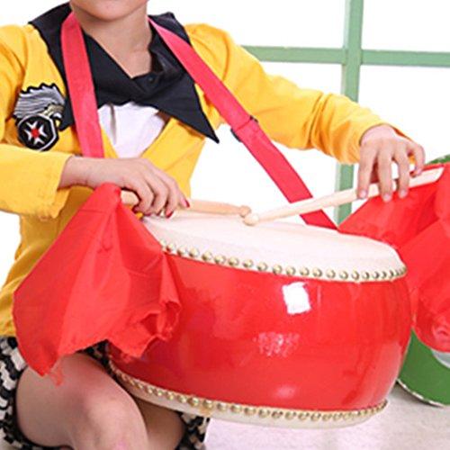 MAJESTIC 太鼓 キッズ パーカッション 本格 楽器 牛革張り 習い事 遊び パーティー イベント 首掛けストラップ