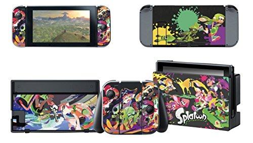 【E-game】 高品質 Nintendo Switch スキンシール 保護カバー (本体 ドック Joy-Con グリップ 4点セット)...