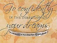 Quotable袖口Go Confidentlyの方向をin Your Dreamsカフブレスレット
