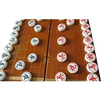 Chinese Chess Traditional China Xiangqi Acrylic material 38MM L Size Festival gift, With foldable chess board / box