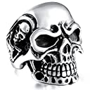 MOWOM ステンレス リング 指輪 頭蓋骨 髑髏 ドクロ スカル 骨 サイズ 30