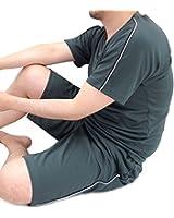 (スコーン) SKKONE 吸汗速乾 ドライメッシュ ジャージ ショートパンツ メンズ 上下セット