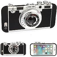 カメラ型TPUスマホケース IPhone7用 防塵耐衝撃 ブラック