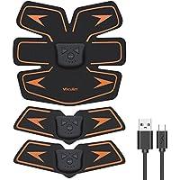 Vaculim EMS 腹筋ベルト USB充電式 腹筋 腕筋 筋トレ器具 トレーニングマシーン 「6種類モード 10段階強度 日本語説明書付属」 (ブラック)