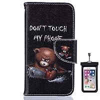 Samsung Galaxy S9 Plus プラス レザー ケース, 手帳型 サムスン ギャラクシー S9 Plus プラス 本革 スマートフォンカバー 耐摩擦 ビジネス 財布 カバー収納 無料付スマホ防水ポーチIPX8 Elegant