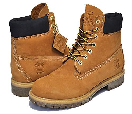 [ティンバーランド] 6インチ ブーツ ウィート 45周年 AND 6INCH PREMIUM BOOTS WP 45th WHEAT NUBUCK イエローブーツ メンズ WP 27cm(US9) [並行輸入品]