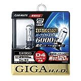 カーメイト 車用 HID ヘッドライト GIGA パーフェクトスカイ 純正交換 D4R/D4S共通 6000K 2900lm ホワイト 車検対応 GX960