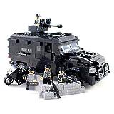 ビルディングブロック玩具 - 武装ミニフィギュアとオートバイと警察特殊部隊トラック