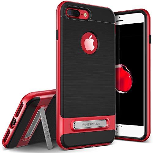 iPhone7 Plus ケース 耐衝撃 VRS DESIGN High Pro Shield 米軍MIL規格 衝撃吸収 薄型 カバー スタンド 付 [ iPhone7Plus ] レッド