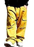 (ディーオーピー)DOP カーゴパンツ バギー ミリタリーパンツ 極太 ワークパンツ 黄 イエロー 30