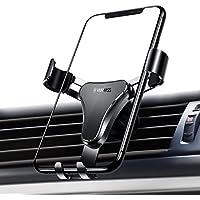 VANMASS 車載ホルダー カーマウント スマホステント スマホホルダー スマートフォンホルダー 車載スタンド 携帯ステント スマホスタンド 携帯ホルダー 重力で自動調節 アウトレット モバイルクリップ 挟み式 エアコン吹き出し口用 落下防止 アイフォン/スマートフォンホルダー 多機種対応 超安定
