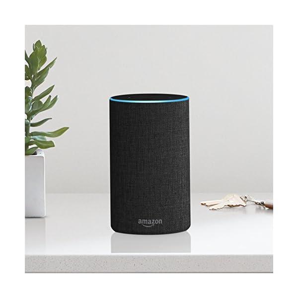 Amazon Echo、ヘザーグレー (ファブ...の紹介画像4