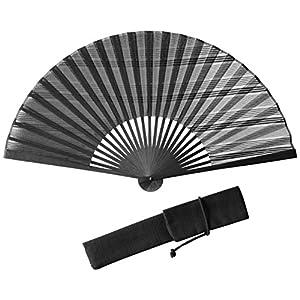 (ハクチクドウ)Hakuchikudo(ハクチクドウ) 横縞グラデ扇子セット (全2種類) 11-jpn-yokoshimagrade bk 黒 -