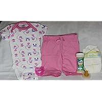 Reborn OOAK Doll Girl Diaper Fake Formula Milk Bottle Pacifier Onesie Pants Outfit