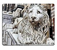 マウスパッドゲーミングマウスパッド自然ゴムマウスマットジェノバイタリアの聖ローレンスロレンツォ大聖堂を守るマーブルライオンM0A17556