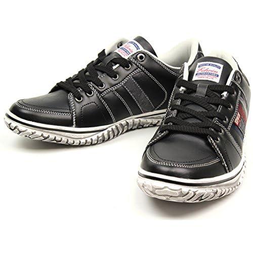 (エドウィン) EDWIN ローカット スニーカー メンズ 人気 レッド 黒 カジュアル靴 ED-7137 ブラック 26.5