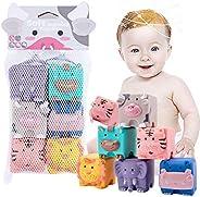 let's make 6個 發音玩具 嬰兒 洗澡玩具 嬰兒用球 柔軟 動物 拼圖 發型 蜂蜜 形狀組合 早期開發 益智玩具 新生兒 玩具 積木塊 圣誕節 生日禮物 出生賀