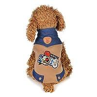 幸運な太陽 ファッション 快適な ペット服 パピー デニム コットン コート ローズ セーター ベスト 犬用品 犬用洋服 可愛い お散歩 お出掛け 犬服 セール 小型犬 中型犬 大型犬用