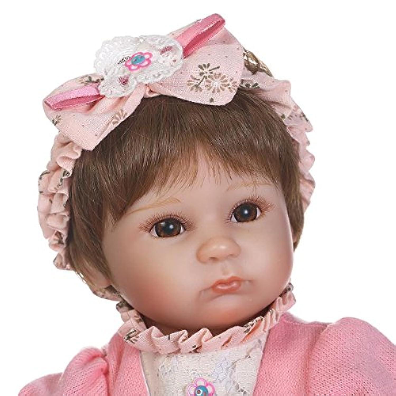 ソフトSilicone Lifelikeベビー人形Reborn Girls Eyes Open 42 cm子供おもちゃwith Hair