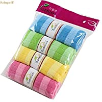 Saingace 4pcs Soft Cotton Car Cloth Towel House Cleaning Practical Kitchen Cleaning Wiping quality first
