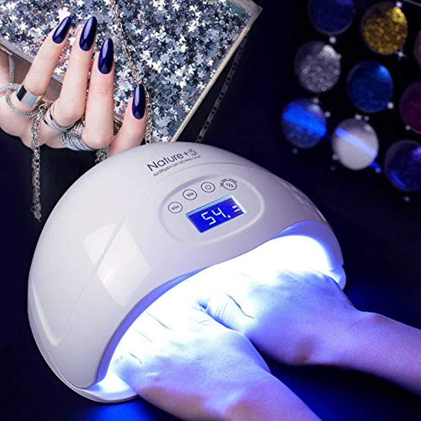 バース壁紙余剰釘のゲルランプLEDのドライヤー48W紫外線ゲルの理性的な誘導の軽量の携帯用機械家の使用および美容院