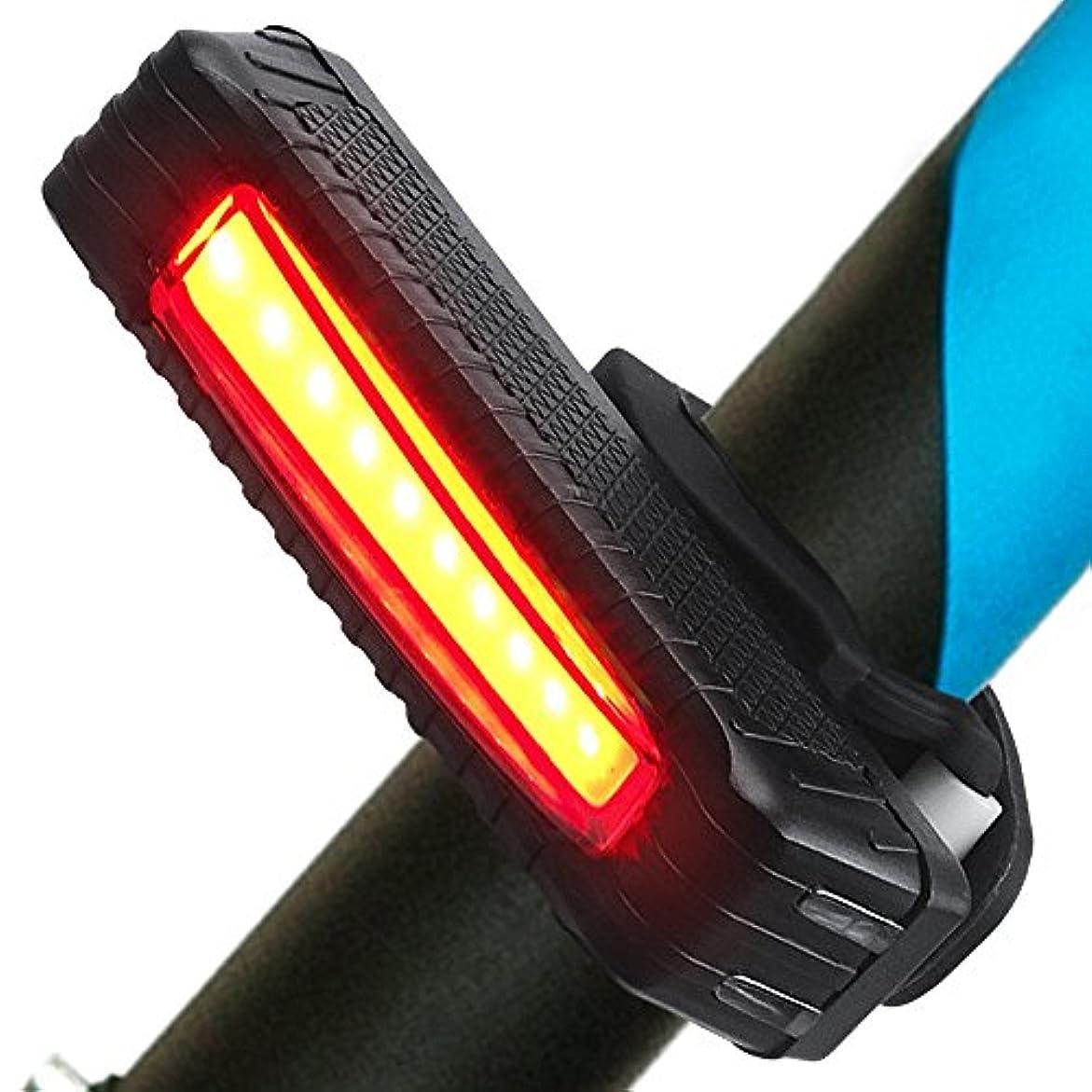 横に混乱叙情的なSahara SailorリアバイクライトUSB充電式自転車テールライト、5つのライトモード、あらゆるロードバイクにフィット、ヘルメット、バックパック