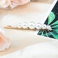 LFDHGファッションシンプルなパールヘアクリップ支店ヘアピンスティック用女の子女性エレガンス甘い結婚式の婚約ヘアアクセサリービッグパール