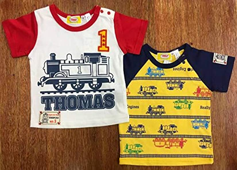 代数的多様性気難しいTシャツ2点 きかんしゃトーマス 機関車トーマス 男児プリント ベビー 半袖Tシャツ 90cm