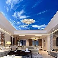 Xbwy 3D壁紙カスタマイズされた壁画非不織布Hd青空白い雲屋根天井装飾3Dウォールルーム壁画壁紙用壁-200X140Cm